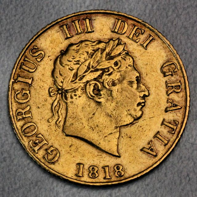 halber Sovereign Goldmünze George III