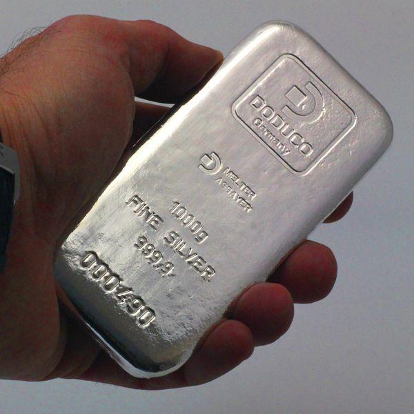 1000g Silberbarren - gegossene Feinsilberbarren 1 Kilo | ESG