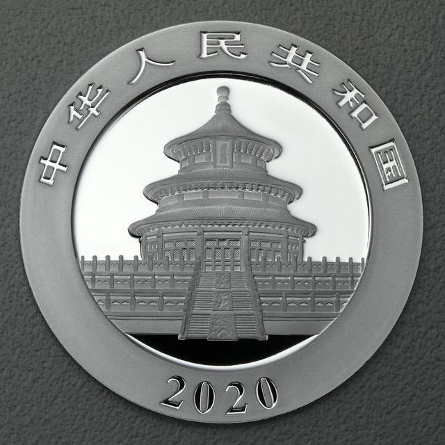 China Panda Silbermünze 2020