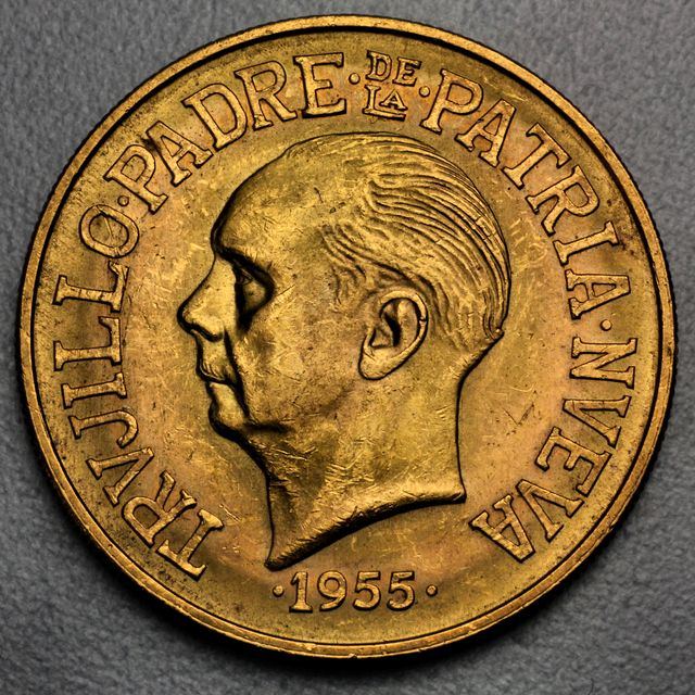 30 Pesos Goldmünze Dominikanische Republik 1955