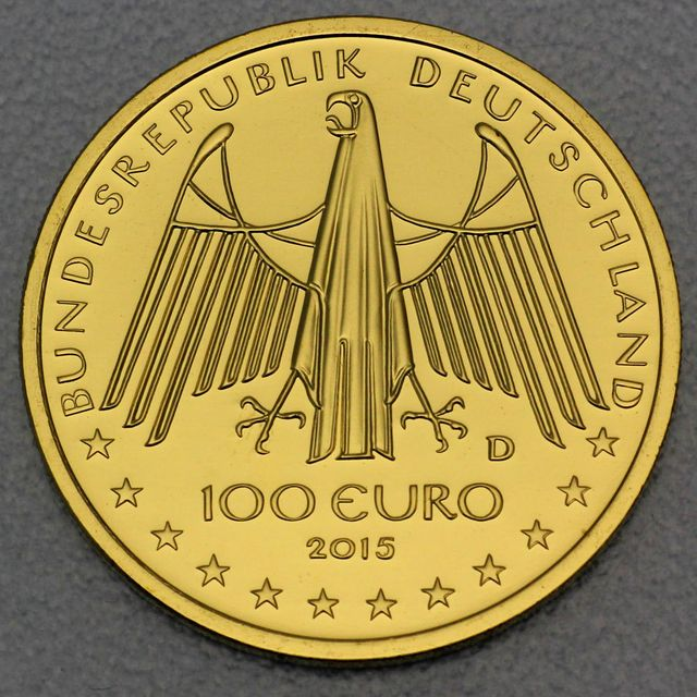 100 Euro Goldmünze BRD 2015