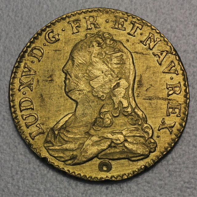1 Louis d'or Goldmünze 1727 Louis XV