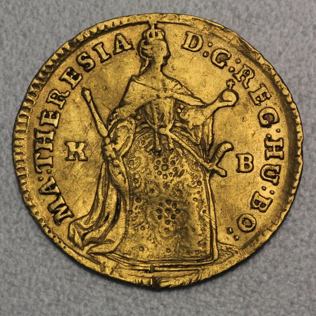Gold Dukate Ungarn 1744