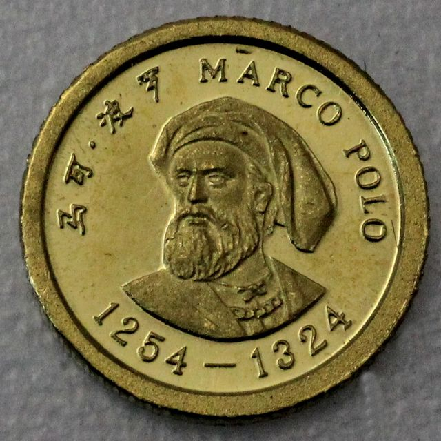 China Marco Polo 1,2g 900er Gold