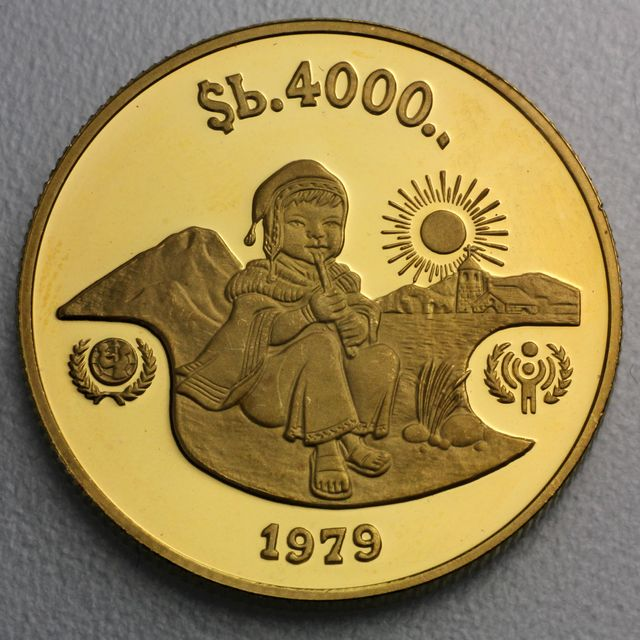 4000 Pesos Goldmünze