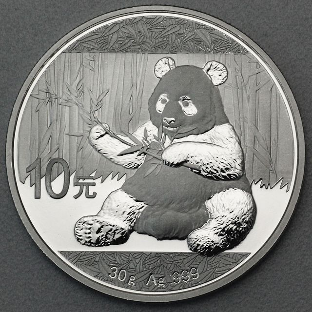 30g Silber Panda 2017 China Panda