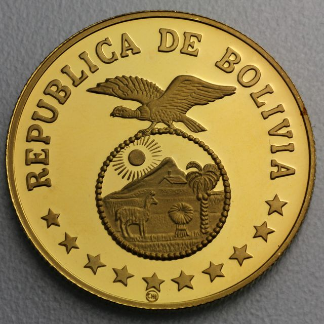 4000 Pesos Goldmünze Bolivien 1979 Year of the Child