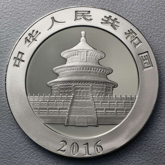 30g Silbermünze 2016 China Panda