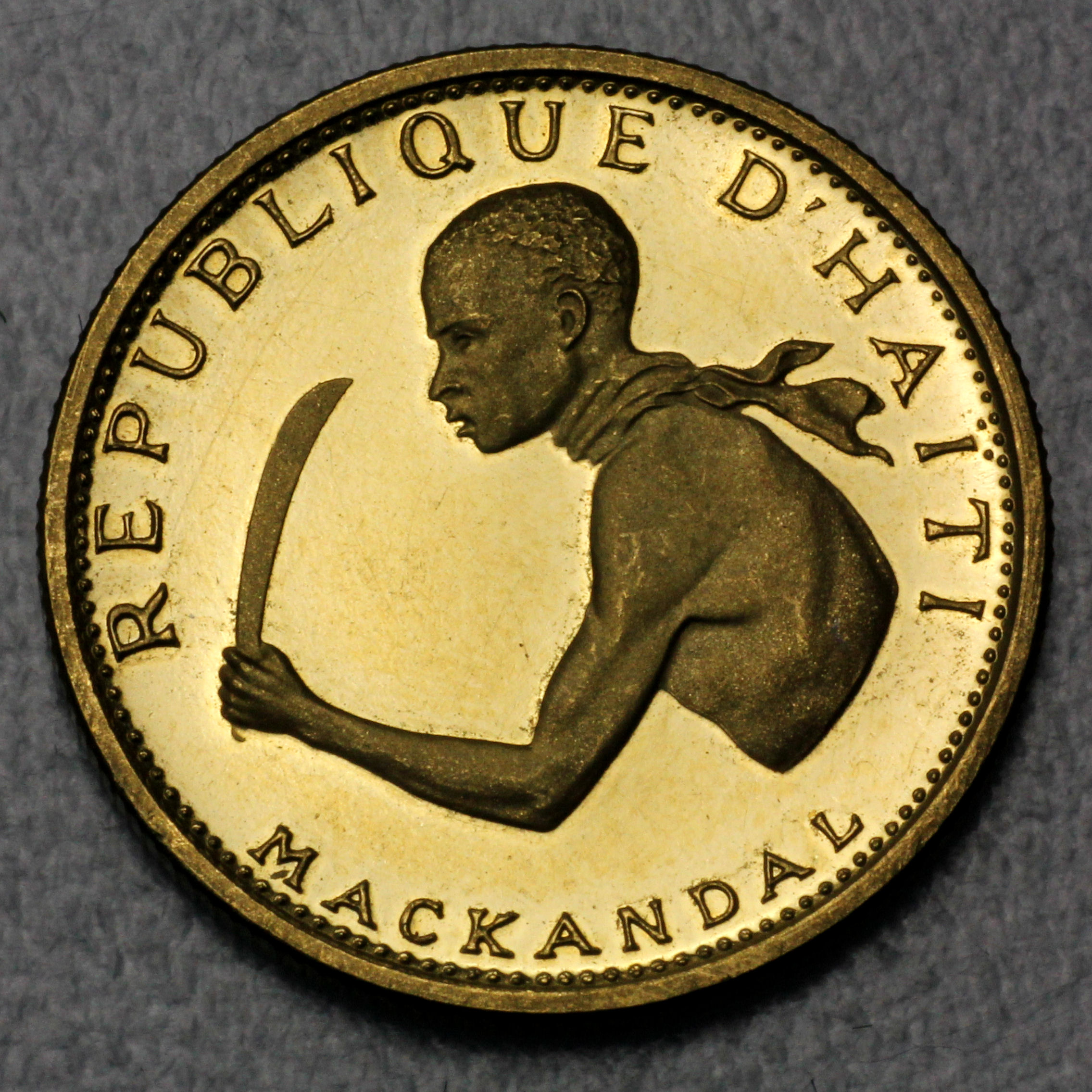 Goldmünzen aus Haiti