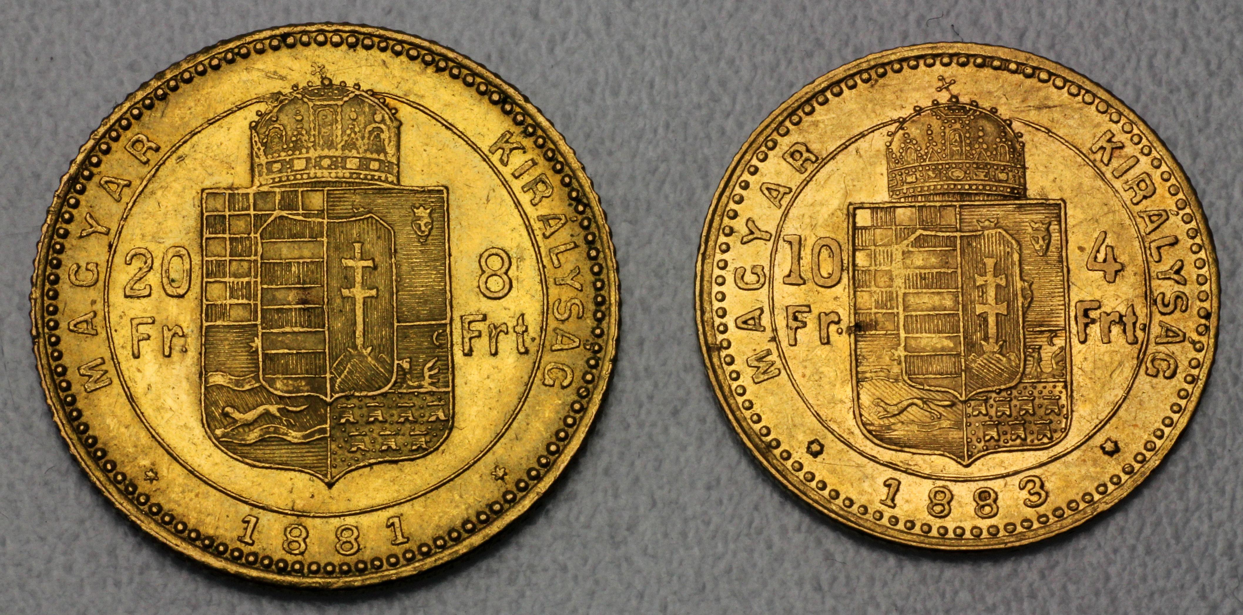 4 florin und 8 florin gulden goldm nzen wert